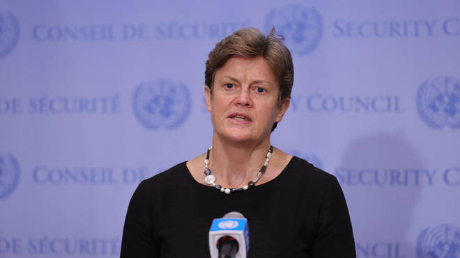 """UK ambassador to the UN Dame Barbara Woodward said the humanitarian situation in Afghanistan requires """"urgent attention"""""""