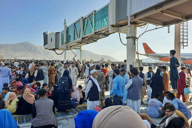 Thousands of civilians have gathered at Kabul Airport in an attempt to flee the country in recent weeks, over fear of what the Taliban takeover could mean for human rights