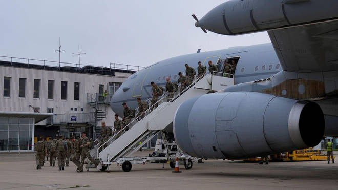 The RAF could launch air strikes at IS in Afghanistan.