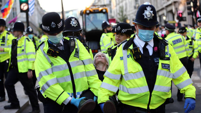 Police made several hundred arrests throughout the week.