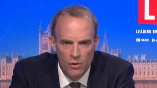 The Foreign Secretary was speaking to LBC's Nick Ferrari