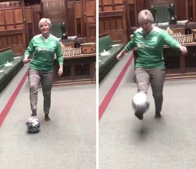 SNP MP Hannah Bardwell shared a video of herself doing keepy-uppies