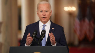 """Joe Biden praised the evacuation mission and said """"it was time to end this war"""""""