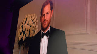 Prince Harry was appearing virtually at the awards