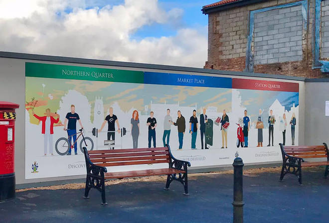 The mural features just four women and no people from ethnic minorities