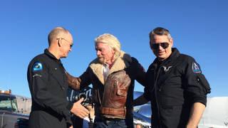 Virgin Galactic crew with Richard Branson