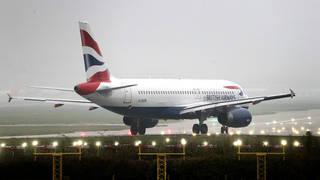 A British Airways plane at Gatwick