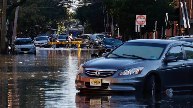 Many streets in New Jersey remain flooded