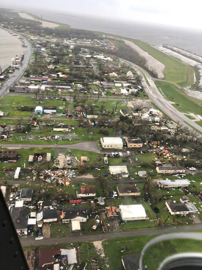 Destruction in Galliano, Louisiana