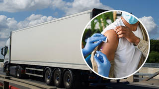 A shortage of lorry drivers has been blamed for a 'two-week delay' for flu jab deliveries.