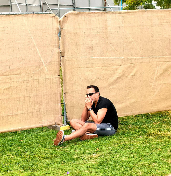 Leo Varadkar was pictured at the 25k capacity Mighty Hoopla festival as Irish events allow a max of 500