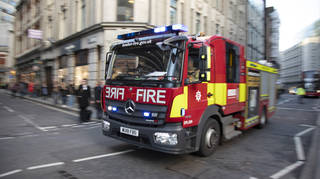 London Fire Brigade were sent to the blaze between Victoria and Green Park stations.