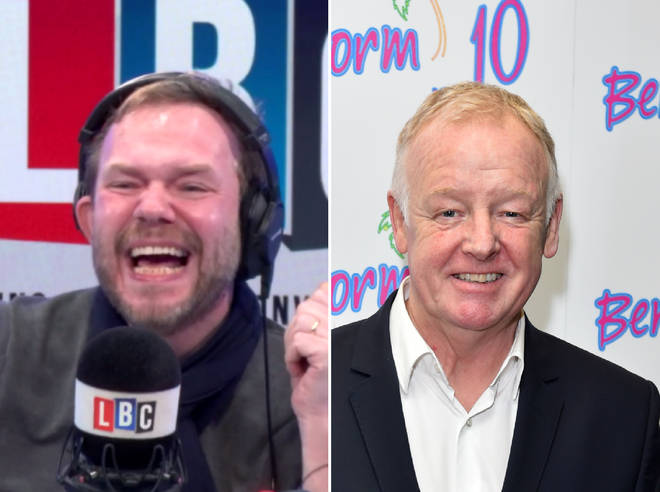 James O'Brien was left in hysterics by Les Dennis