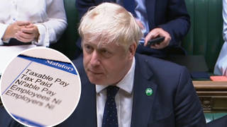 Boris Johnson was addressing MPs in the House of Commons