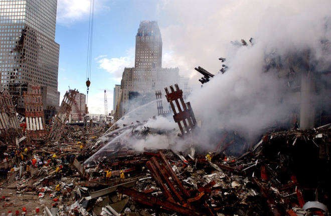 The site of the towers' collapse was combed for survivors, and became known as Ground Zero