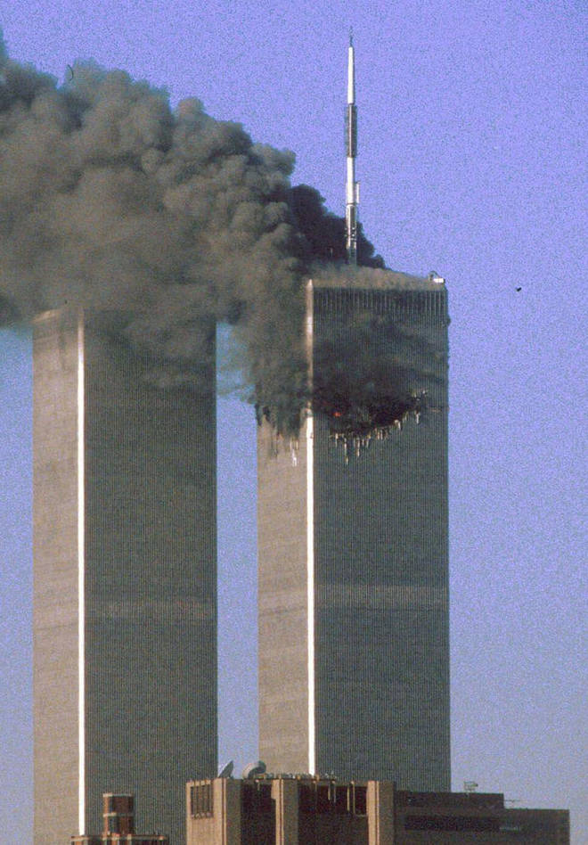 The North Tower was hit first