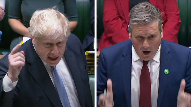 Boris Johnson and Sir Keir Starmer clashed over the Prime Minister's plans for social care reform