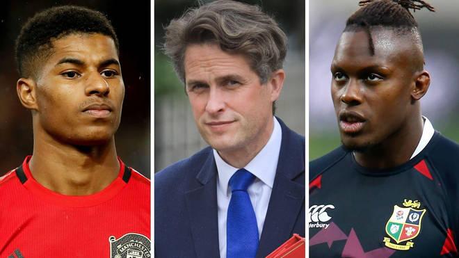 Gavin Williamson mistook Marcus Rashford for black rugby player Maro Itoje.