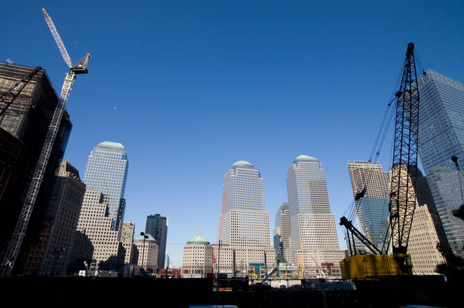 Construction under way at the World Trade Centre site