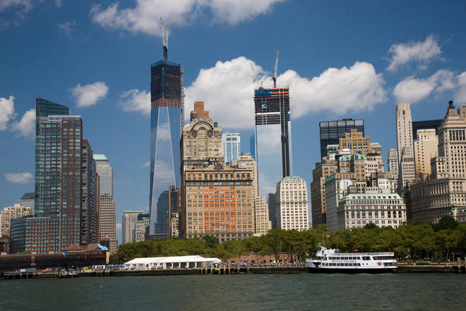 The World Trade Centre site takes shape beside New York's existing towers