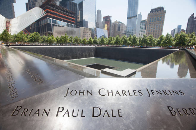 The footprints of the twin towers remain as reflecting pools, as part of the memorial to 9/11's victims