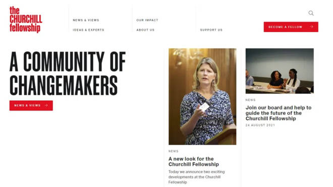 The charity's rebranded homepage