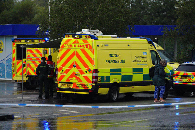 An incident response unit, multiple ambulances and armed police were all deployed.