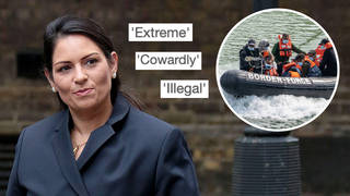 Charities and opposition parties have condemned Priti Patel's 'pushback' tactics