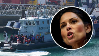 Priti Patel has authorised Border Force to block migrant boats crossing the English Channel