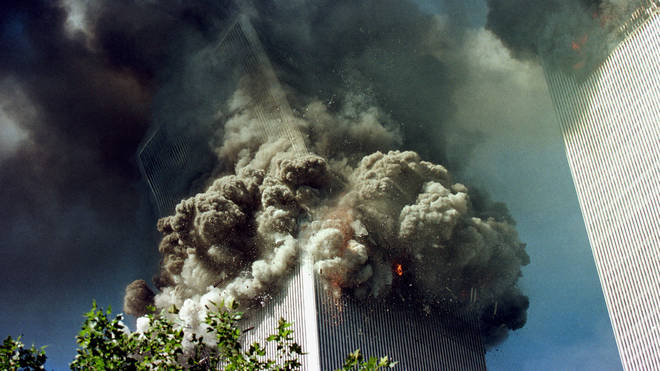 The collapse of the South Tower