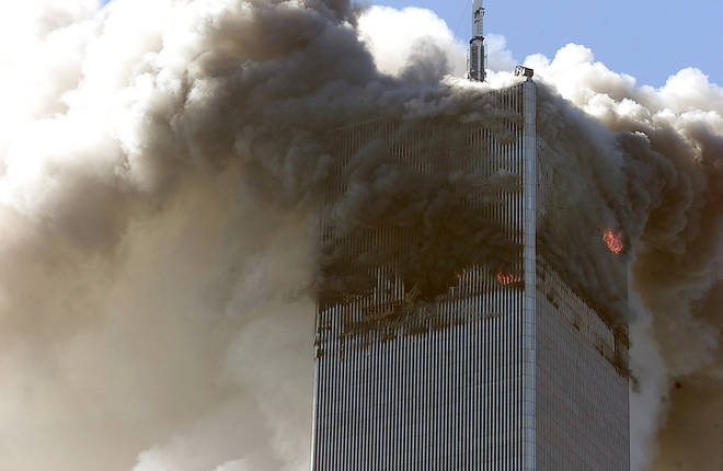 Hundreds of people were trapped above the site of the crash in the North Tower