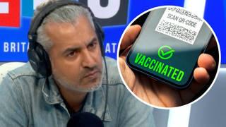 Vaccine passports will result in indirect discrimination against groups, academic tells LBC