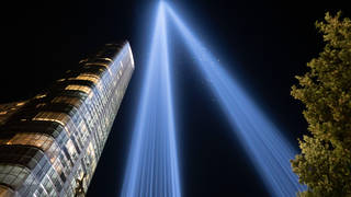 A moving light tribute was held in New York