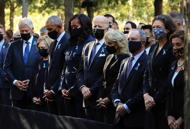 US president Joe Biden travelled to Ground Zero alongside former presidents such as Barack Obama.