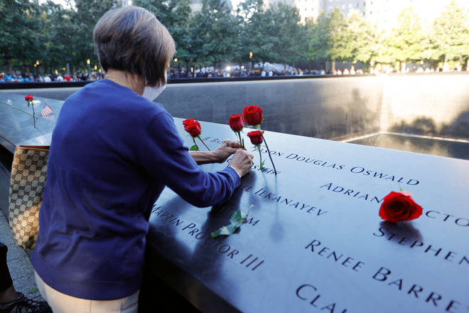 Many friends and family members brought roses to the memorial in New York.