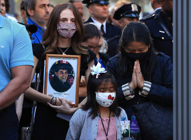 Loved ones of those killed in the 9/11 attacks have gathered at Ground Zero, the Pentagon and in Pennsylvania.