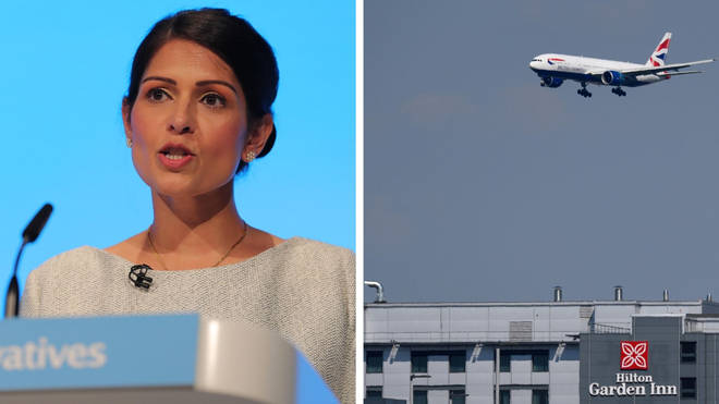 Patel is under fire over a Heathrow meeting