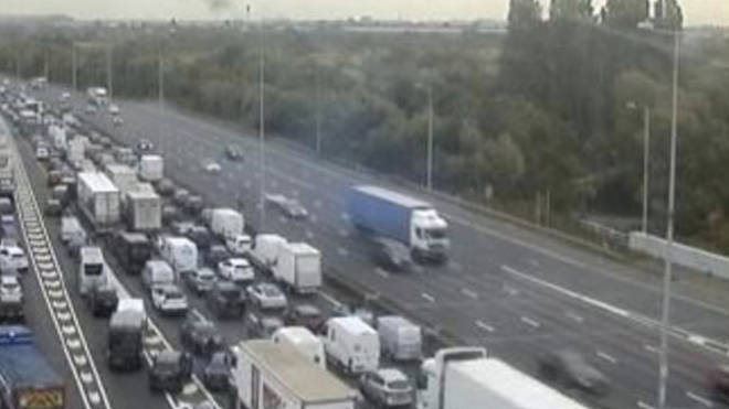 The action is thought to have sparked queues of up to 15 miles