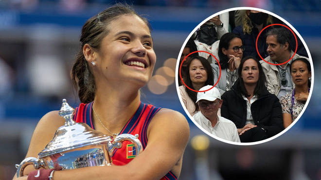 Emma Raducanu's parents, Renee and Ian, were unable to be at the US Open final