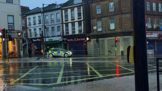 Police attended the scene with the London Fire Brigade and Ambulance Service.