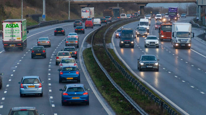 Traffic on the M1, one the UK's smart motorways