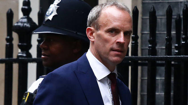 Raab is said to have had a heated row with Boris Johnson after learning of his demotion