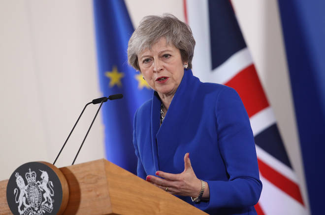 Theresa May speaks after European leaders meet to sign off Brexit Withdrawal Agreement