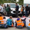 Insulate Britain protesters block a slip road from the M25 at Junction 25