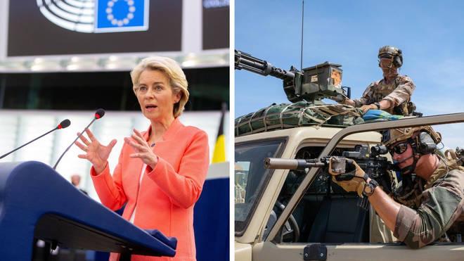 Ursula von der Leyen said the EU needs willpower to create a force