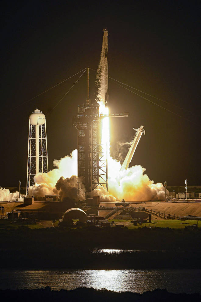 The rocket will splash down off the coast of Florida