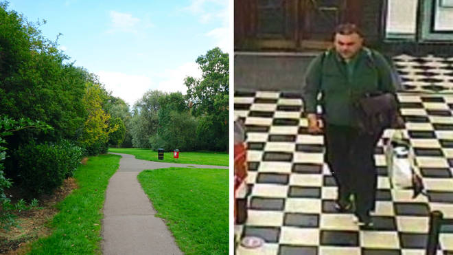Police have released CCTV footage of a man they wish to speak with in connection with a rape in Watling Park, Edgware.