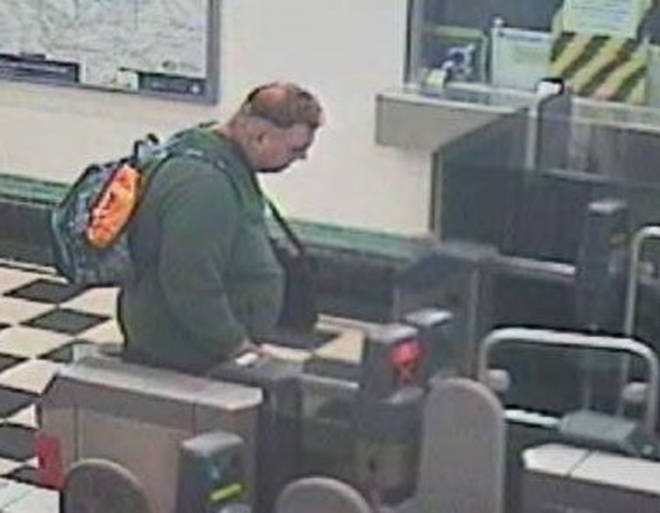 Police have released two images of a man at Burnt Oak Station who they wish to speak with.