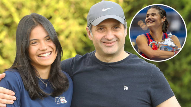 Emma Raducanu has been reunited with her parents after her historic US Open win
