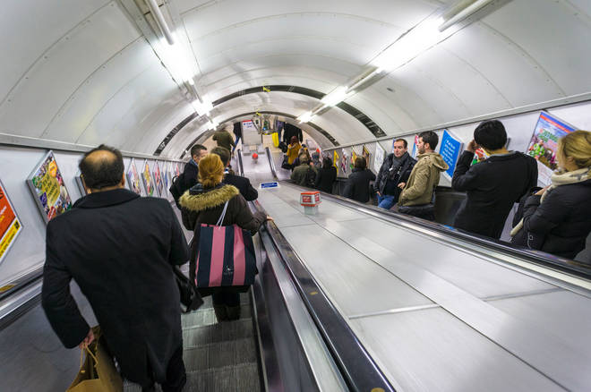 There has been a rise in people falling on the Tube because they are reluctant to hold handrails because of the pandemic